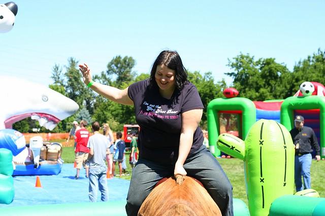 Jen Rides the Bull 2
