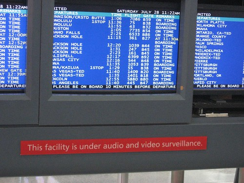Denver Aiport - Can you read the warning in red?