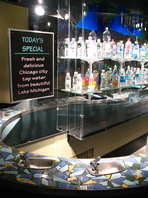Bottled Water Bar in Chicago's Museum of Science & Industry
