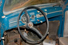 steering wheel (katwood) Tags: blue dashboard steeringwheel gauges