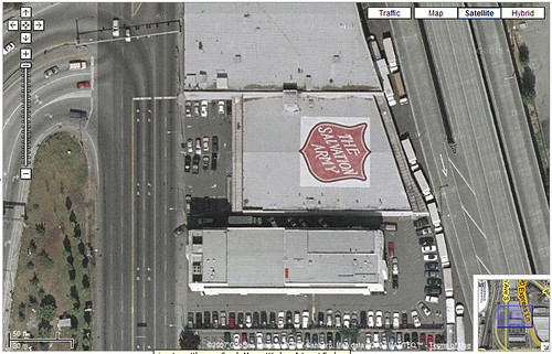 The Salvation Army rooftop ad, Seattle
