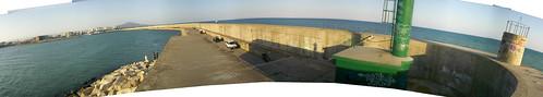 Panorámica puerto Vinaroz (320º)