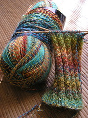 Spiral rib socks