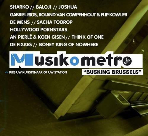 MusikoMetro festival in Brusselse metro
