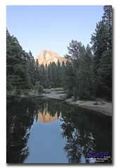 Half Dome Reflected on Merced River (Herb Dunn (YosemiteJunkie)) Tags: reflection canon20d yosemite halfdome canonef1740lusm mercedriver naturescall herbdunn dunnrightphotography