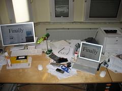 My very messy desktop.