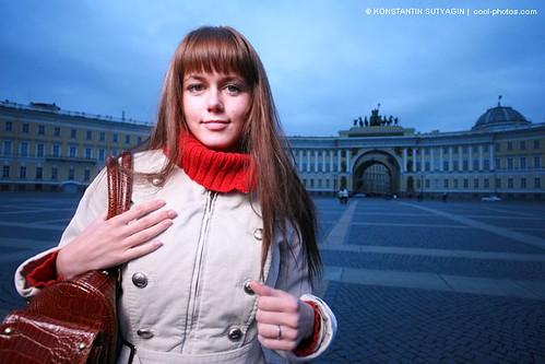 Fashion girl with handbag