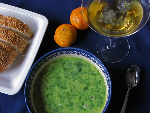 spinach soup makes winter better