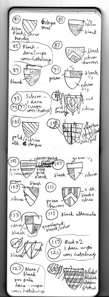 Heraldry Sketches for Five Wounds 2