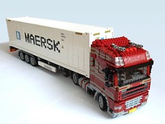 DAF XF105 (1) (Mad physicist) Tags: dutch truck lego container reefer 122 daf xf105