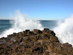 North Avoca Beach morning ()x(Nato)x() Tags: sun beach water coast nikon waves australia coolpix p5000 supershot northavoca