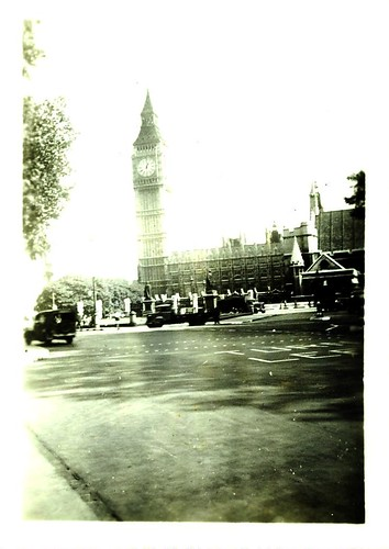 big ben and house of parliament, circa early '40s