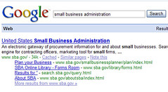 SBA  in Google SERP