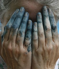 meh (torontofotobug) Tags: blue me paint fingers stained oil wetpaint oilpaint photobyrichardebbs phlow:status=away