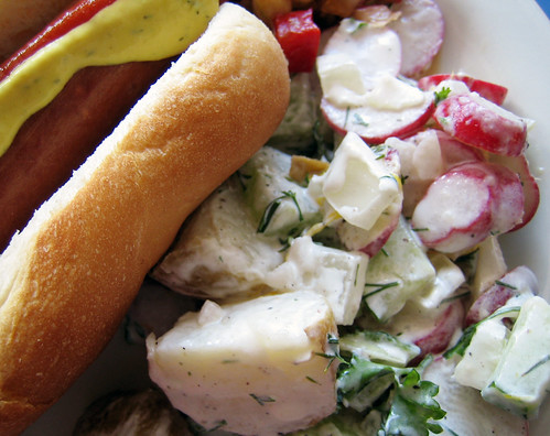 salads? creamy red, white and green potato salad + creamy asian slaw ...