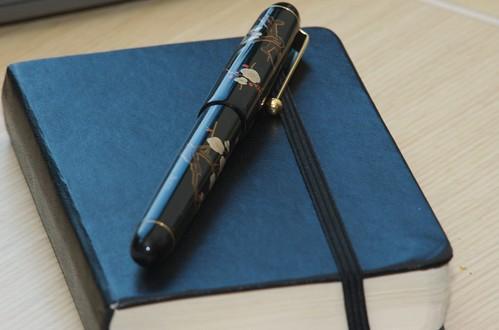 Namiki Plum Flower Pen with Moleskine notebook