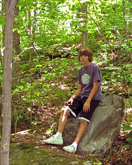 Evan Rests Along the Way (Rock Steady Images) Tags: evan ontario canada rock canon is son hike 200views rest 500views s3 chambers algonquinpark sons centenialridges bypaulchambers rocksteadyimages