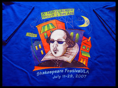 A Midsummer Night's Dream (Zeetz Jones) Tags: souvenirs teeshirt williamshakespeare photooftheday thebard amidsummernightsdream cathedralofourladyoftheangels downtownlosangelesca colourartaward 22july2007 lashakespearefestival