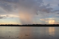 Rain storm in the Amazon (10b travelling) Tags: sunset brazil sky reflection peru latinamerica southamerica rain rio ctb reflections project river amazon rainforest skies research volunteering jungle ten volunteer americas carsten sudamerica brink earthwatch 10b yavari cmtb tenbrink