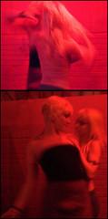 red desire (AustinTX) Tags: bar diptych dancers jet houston august d200 iso1600 2007 120sec photosinthefckingdark