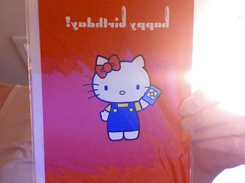 hello kitty happy birthday card