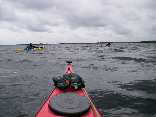 Three Kayaks on Lough Ree