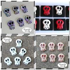 1st round of skull beads