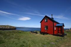 Flatey (sigfus.sigmundsson) Tags: flatey iceland breiðafjörður breiðafirði rautt hús gamalt house red sea sky landscape old travel breidafjordur