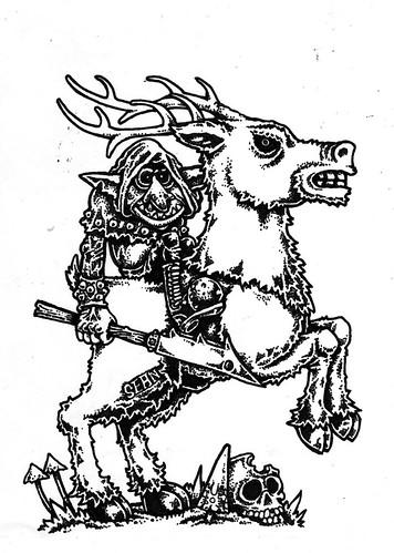 goblin deer rider