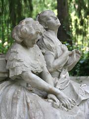 Figuras del monumento a Bécquer. Parque de Mª ...