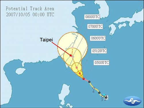 Typhoon coming to Taiwan