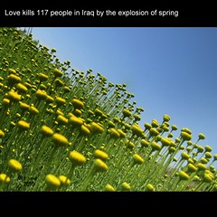 Love kills 117 people in Iraq by the explosion of spring (TioTxus) Tags: family blue espaa love primavera valencia azul canon spring spain europa kill amor iraq explosion cielo muertos bombas exploited irak aznar asesinos matar txus asesinados explotar sx10 tiotxus