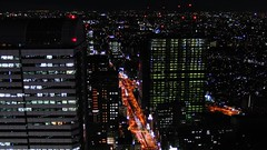 Ome Kaido, Shinjuku (hidesax) Tags: street new urban building japan night lights tokyo construction shinjuku nightshot casio shinjukuilandtower exfc100 hidesax omekaidoshinjuku