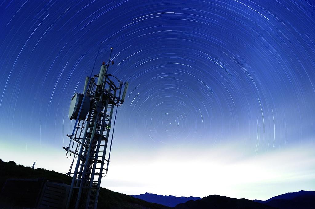 合歡山 主峰 雷達 北方星軌
