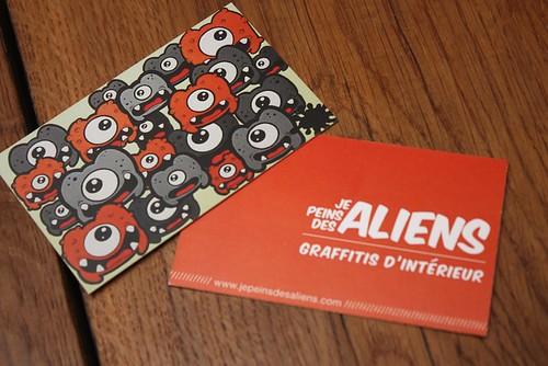 Cartes de Visite Je Peins Des Aliens
