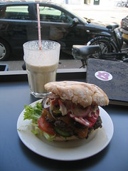 the best burger i've had in Holland. (alex) Tags: food amsterdam albert straat cuyp burgermeister