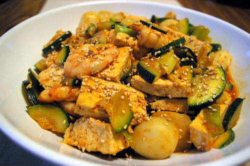 Seafood Tofu with Gochujang Sauce