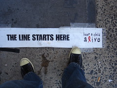 Keep A Child Alive - First in Line - Day 2 (Johnny Vulkan) Tags: charity nyc apple ebay auction soho line iphone keepachildalive