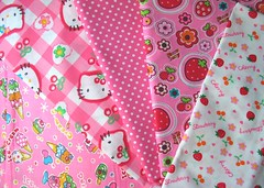 Amazing fabric (Amesainte) Tags: hello cherry strawberry kitty rosa fabric icecream stoffe stofferosa