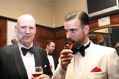 Michael Cassidy (left) and Erik Lynge-Jorlen (The New Sheridan Club) Tags: beard pipe smoking smoker tobacco pipesmoker pipeman pipemen