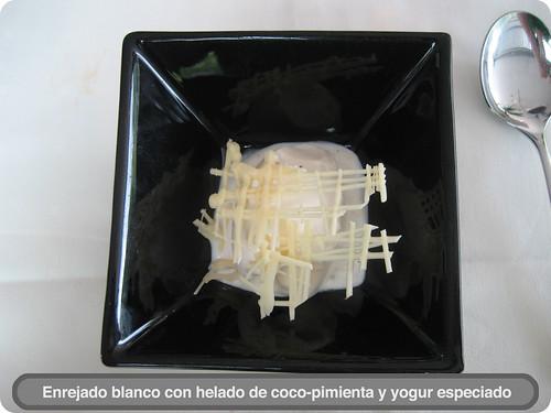 Helado de coco-pimienta