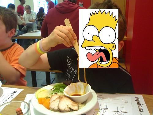 Noodle eating