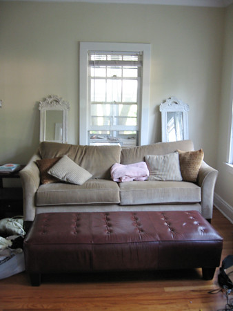 Couch with mirrors