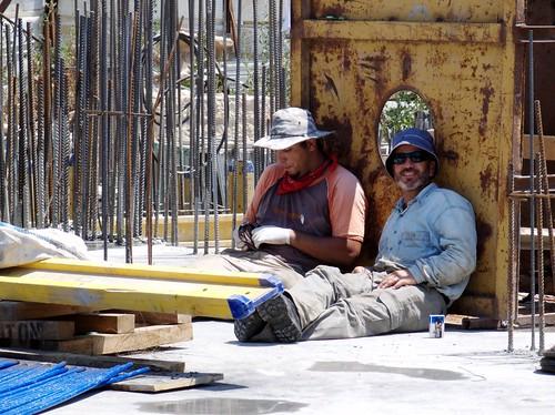 Palästinensische Bauarbeiter in Jerusalem