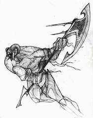 Vikingo (Jugo de Naranjo) Tags: drawing axe warrior viking dibujo guerrero vikingo hacha
