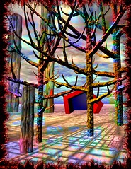 """GREECE: """"FOREST FIRES"""" (MONKEY50) Tags: paintshoppro red digital colours colour colors color bryce black art theunforgettablepictures fantasy summer exoticimage awardtree artdigital hypothetical"""