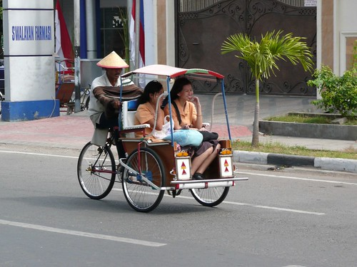 Becak in Makassar