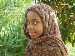 Finished Clapotis Hijab Style