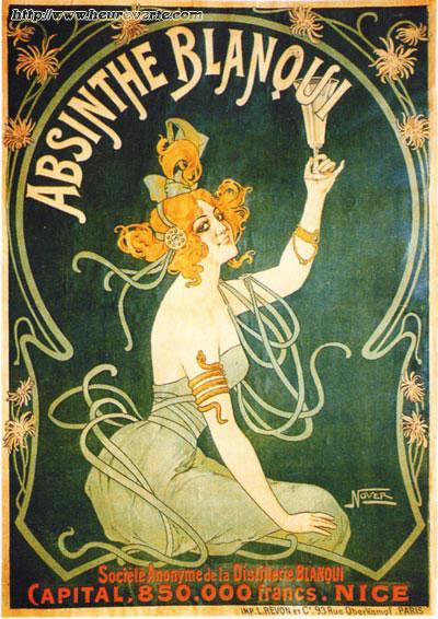 affiche absinthe blanqui