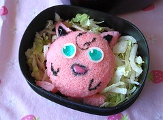 Idlipuff closeup :) (Sakurako Kitsa) Tags: pink india anime funny south cartoon pokemon bento sakurako jigglypuff obento idli kitsa idlis sakurakokitsa
